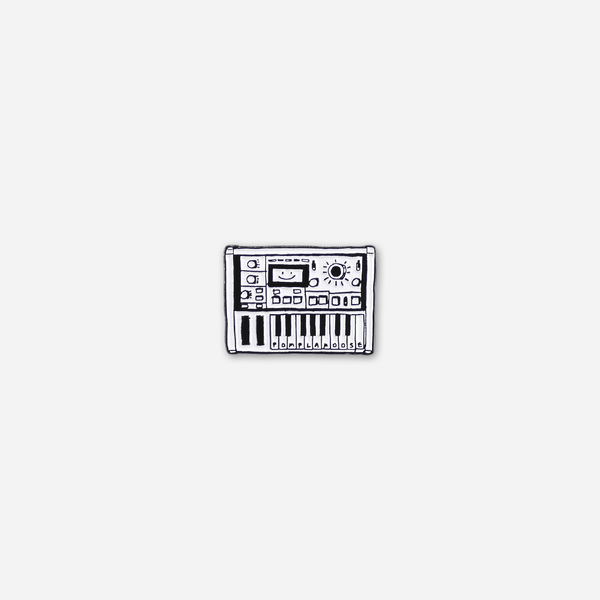 Tiny Keyboard Pin by Pomplamoose for sale on hellomerch.com
