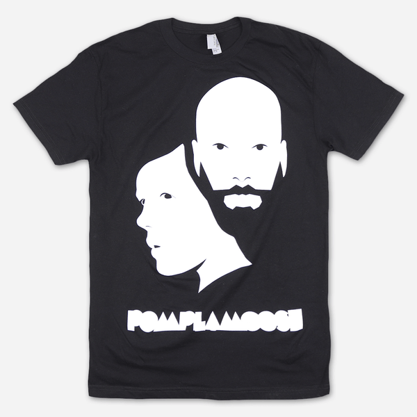 Faces Black T-Shirt by Pomplamoose for sale on hellomerch.com
