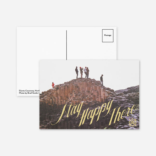 Stay Happy There Postcard by La Dispute for sale on hellomerch.com