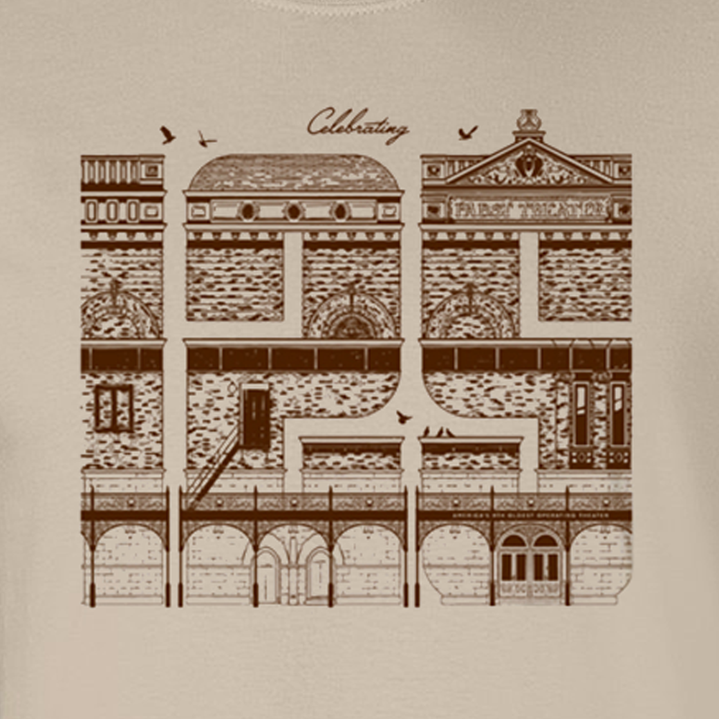 Pabst Theater 125 Years Sand T-Shirt