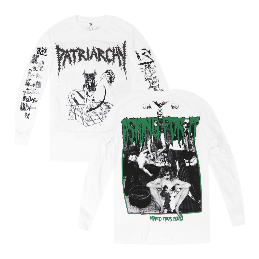 Patriarchy White Long Sleeve T-Shirt