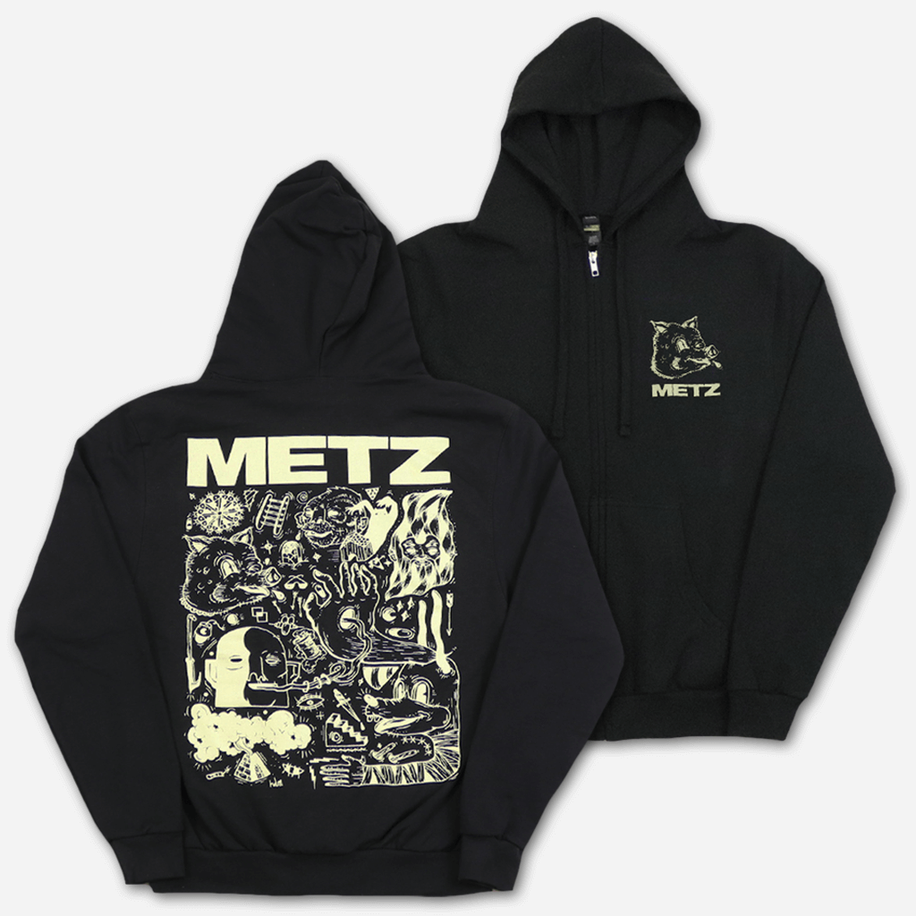 Piggy Black Zip Hoodie - Metz - Hello Merch