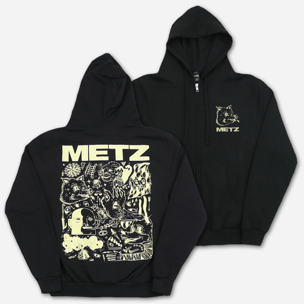 Piggy Black Zip Hoodie by Metz for sale on hellomerch.com