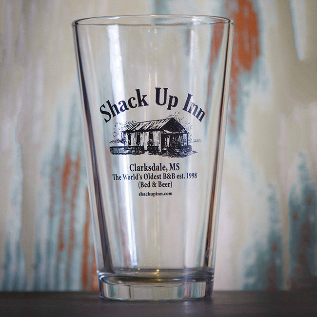 SUI Logo Pint Glass - Shack Up Inn - Hello Merch