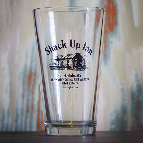SUI Logo Pint Glass by Shack Up Inn for sale on hellomerch.com