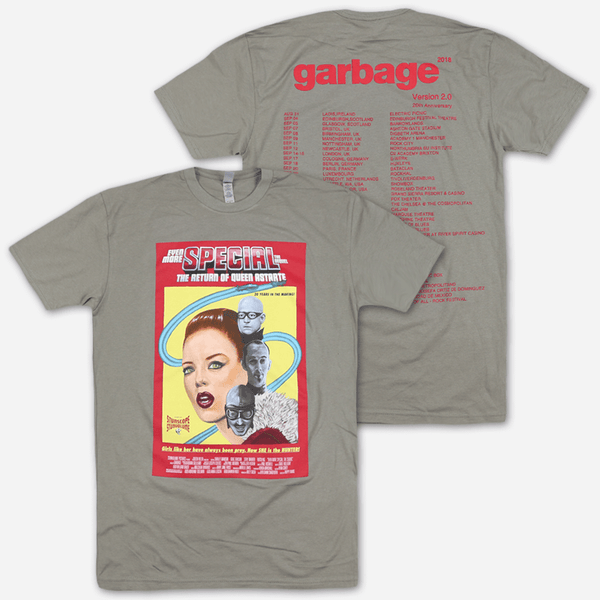 Special Grey Tour T-Shirt by Garbage for sale on hellomerch.com