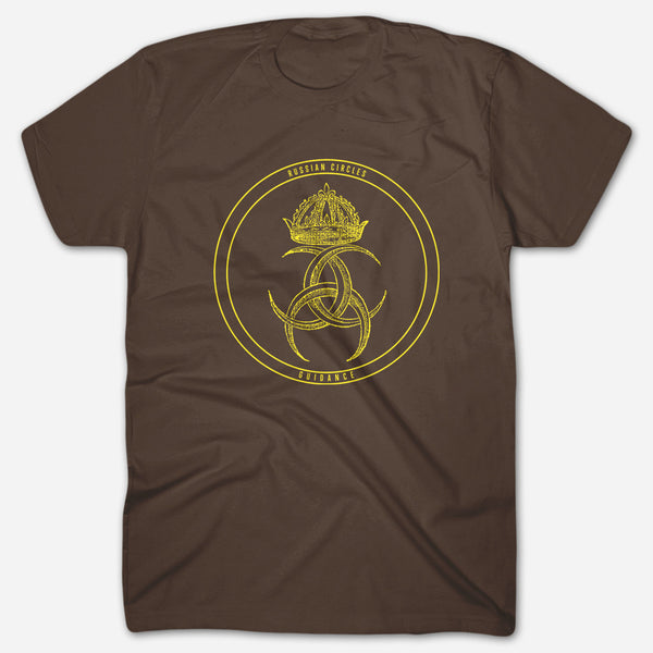Guidance Brown T-Shirt by Russian Circles for sale on hellomerch.com