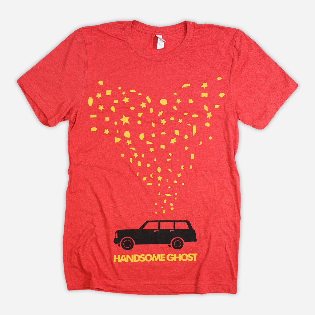 Car And Stars Red Tri-Blend