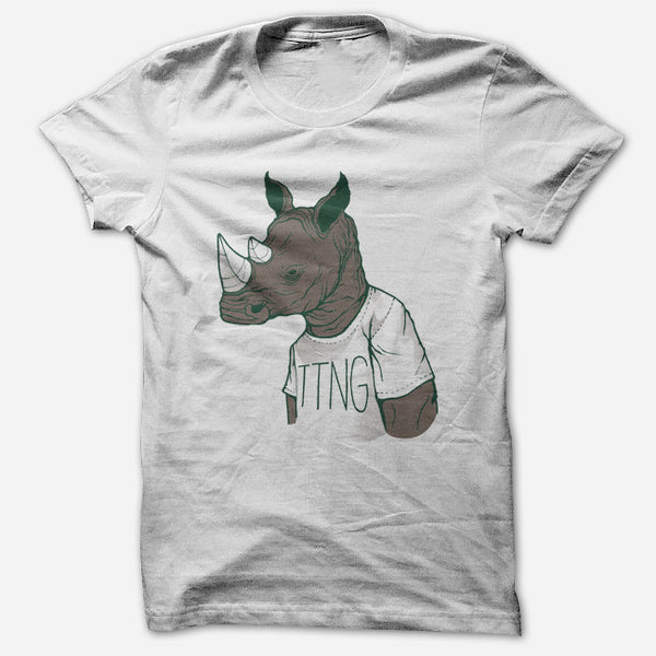Rhino White T-Shirt by TTNG for sale on hellomerch.com