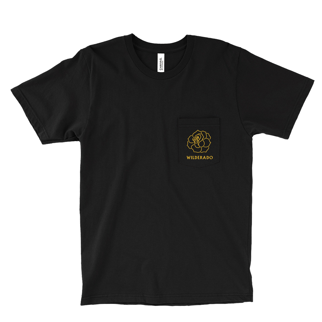 Rose Black Pocket T-Shirt