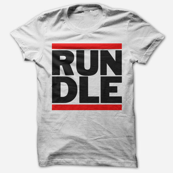RUN DLE White T-Shirt by Emma Ruth Rundle for sale on hellomerch.com