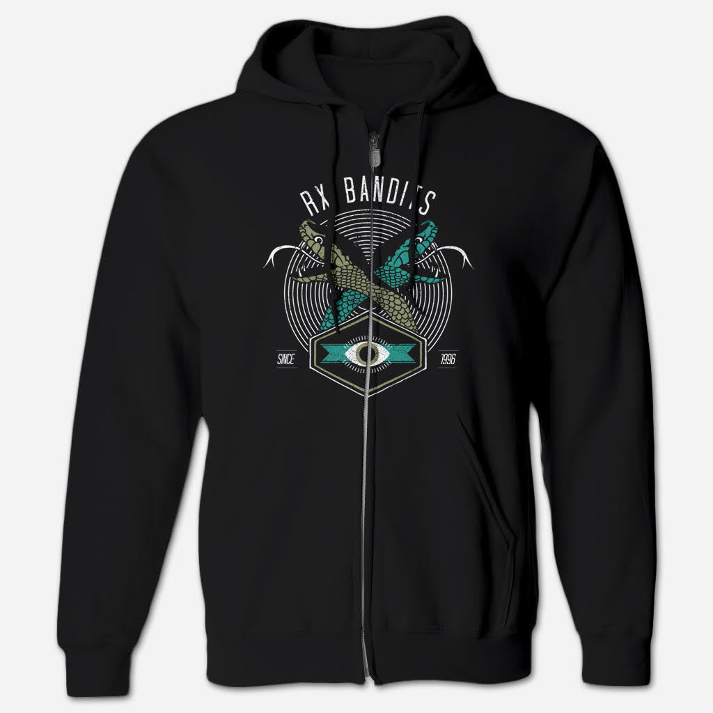 RXB Snakes Flex Fleexe Zip Hoodie - RX Bandits - Hello Merch