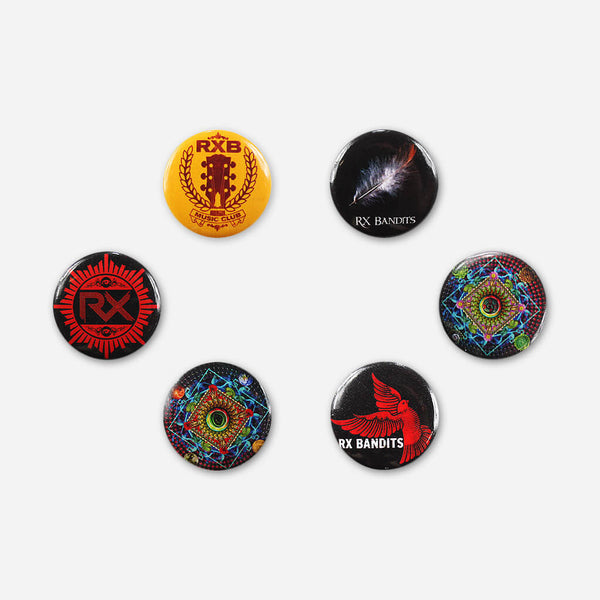 RX Bandits Button Pack by RX Bandits (Band) for sale on hellomerch.com