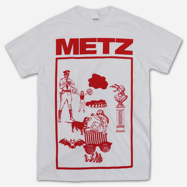 Red Louis White T-Shirt by Metz for sale on hellomerch.com