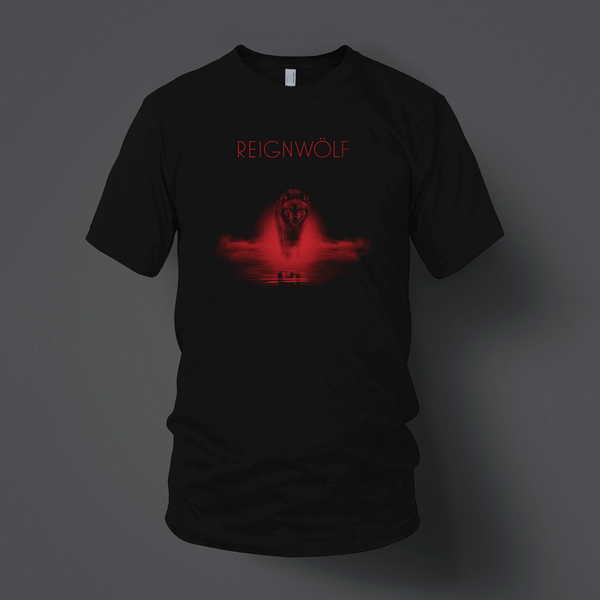 Red Wolf Black T-Shirt by Reignwolf for sale on hellomerch.com