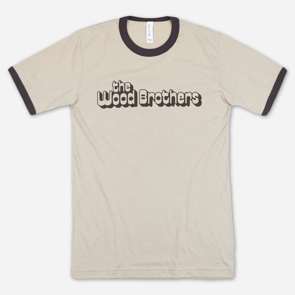 Retro Tan Ringer T-Shirt