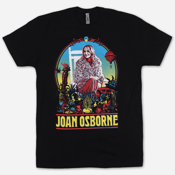 Rocking Chair Black T-Shirt by Joan Osborne for sale on hellomerch.com