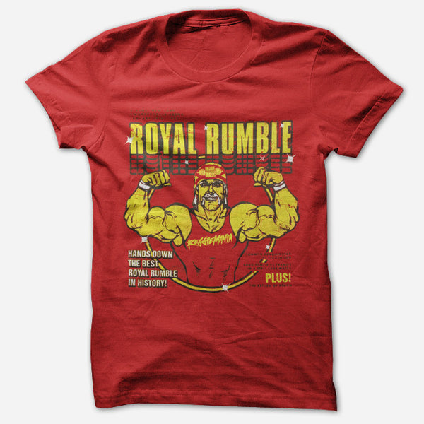 Royal Rumble Red T-Shirt by Reggie and the Full Effect for sale on hellomerch.com