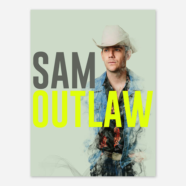 Sam Outlaw 2017 Poster by Sam Outlaw for sale on hellomerch.com