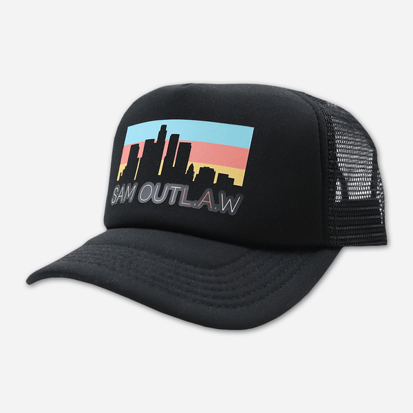 Skyline Snapback Black Hat by Sam Outlaw for sale on hellomerch.com