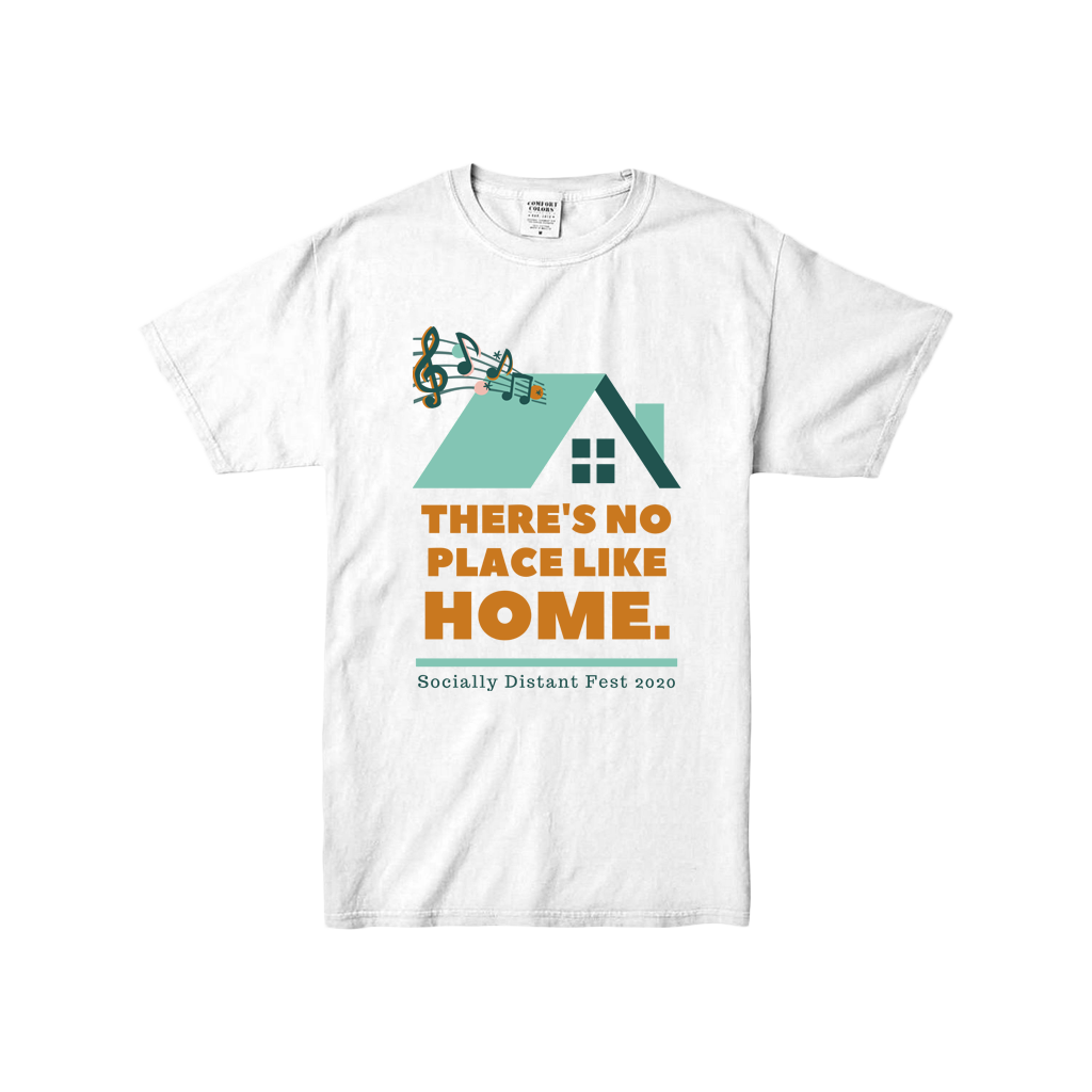 There's No Place Like Home Youth White T-Shirt