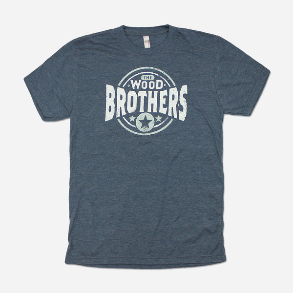 Wood Brothers Seal Indigo Tri-Blend by The Wood Brothers for sale on hellomerch.com