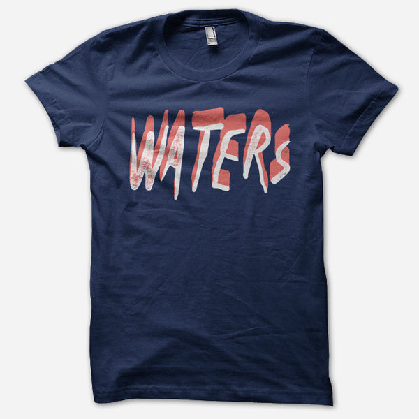 Shadows Navy T-Shirt by WATERS for sale on hellomerch.com