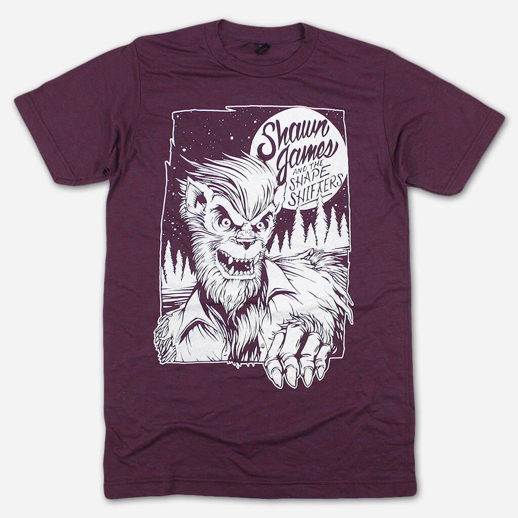 Wolf Berry Tri-Blend - Shawn James - Hello Merch