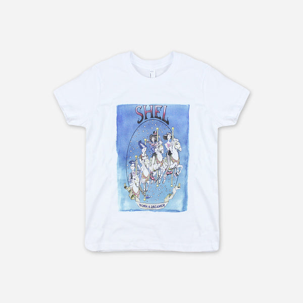 "Limited Edition ""Born A Dreamer"" Youth T-Shirt by SHEL for sale on hellomerch.com"