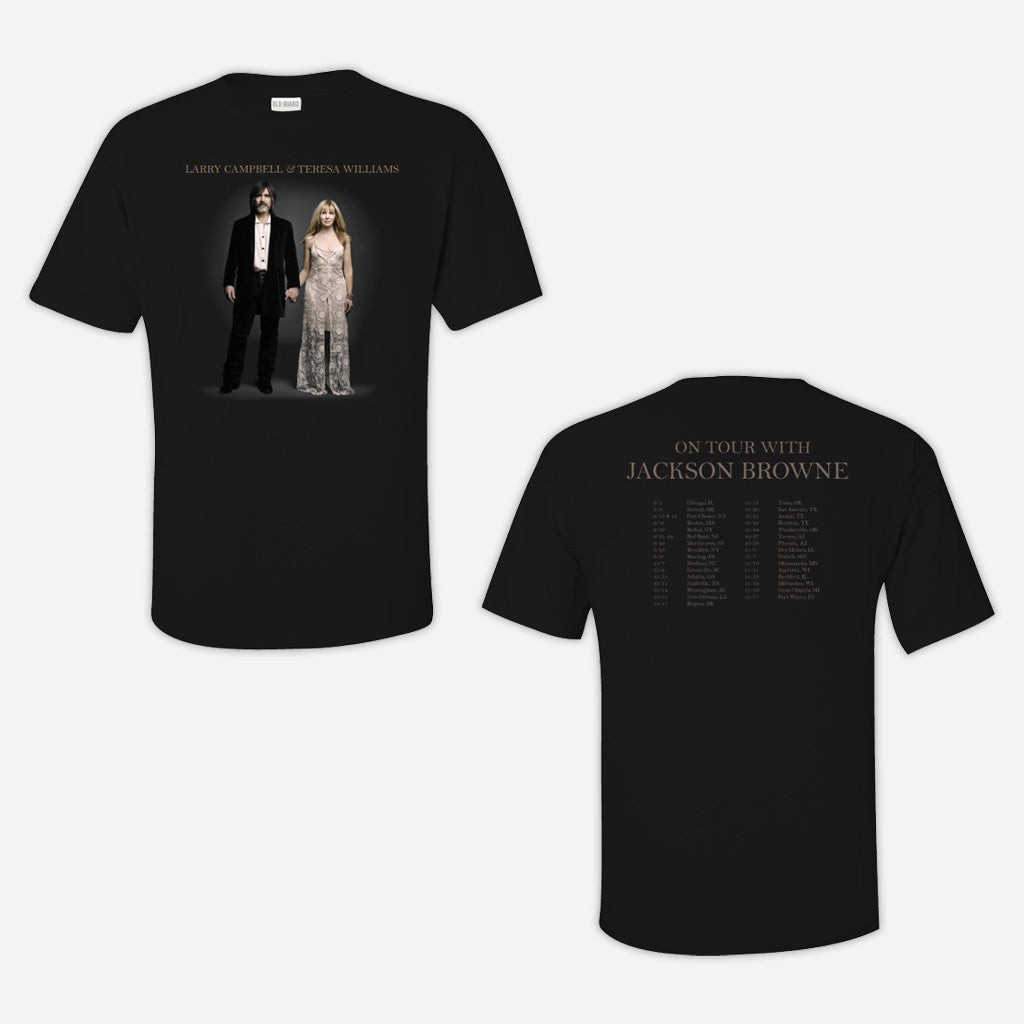 Jackson Browne 2015 Tour Black T-Shirt
