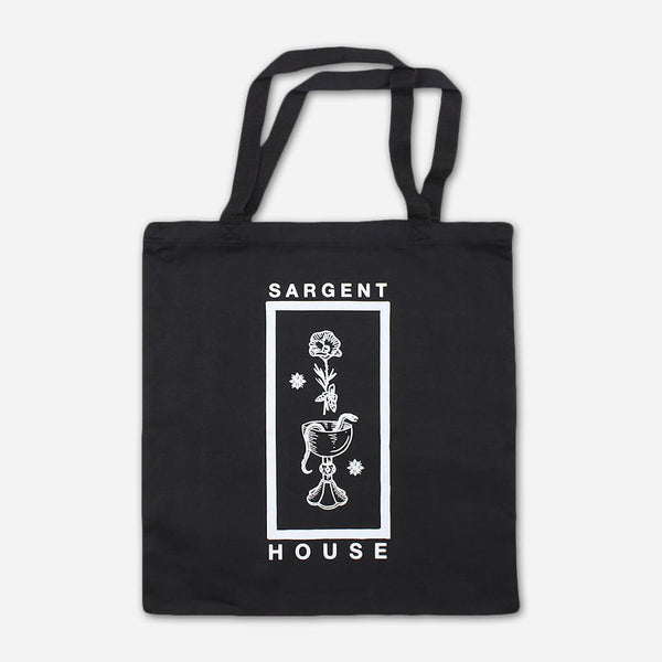 SH Black Tote Bag by Sargent House for sale on hellomerch.com