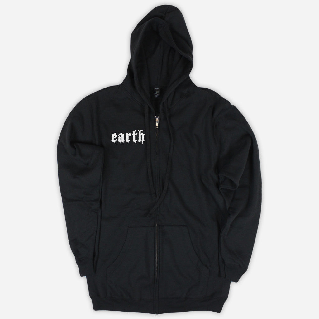 Sigil Black Zip Up Hoodie - Earth - Hello Merch