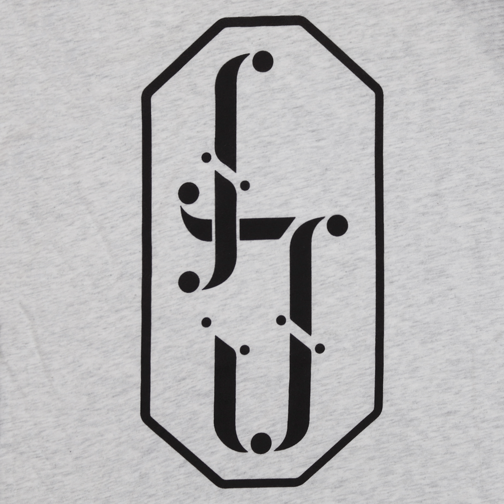 Monogram Heather White Baseball Shirt