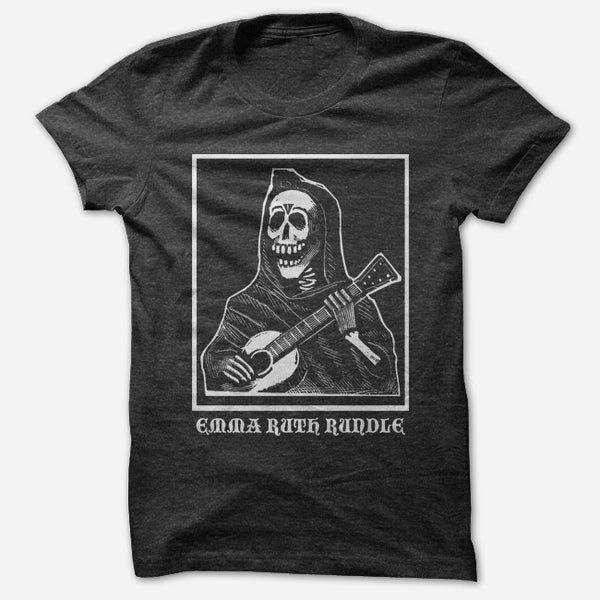 Skeleton Black T-Shirt by Emma Ruth Rundle for sale on hellomerch.com