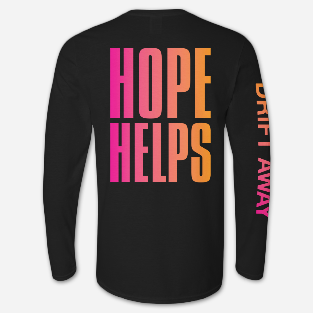Hope Helps Black Long Sleeve T-Shirt