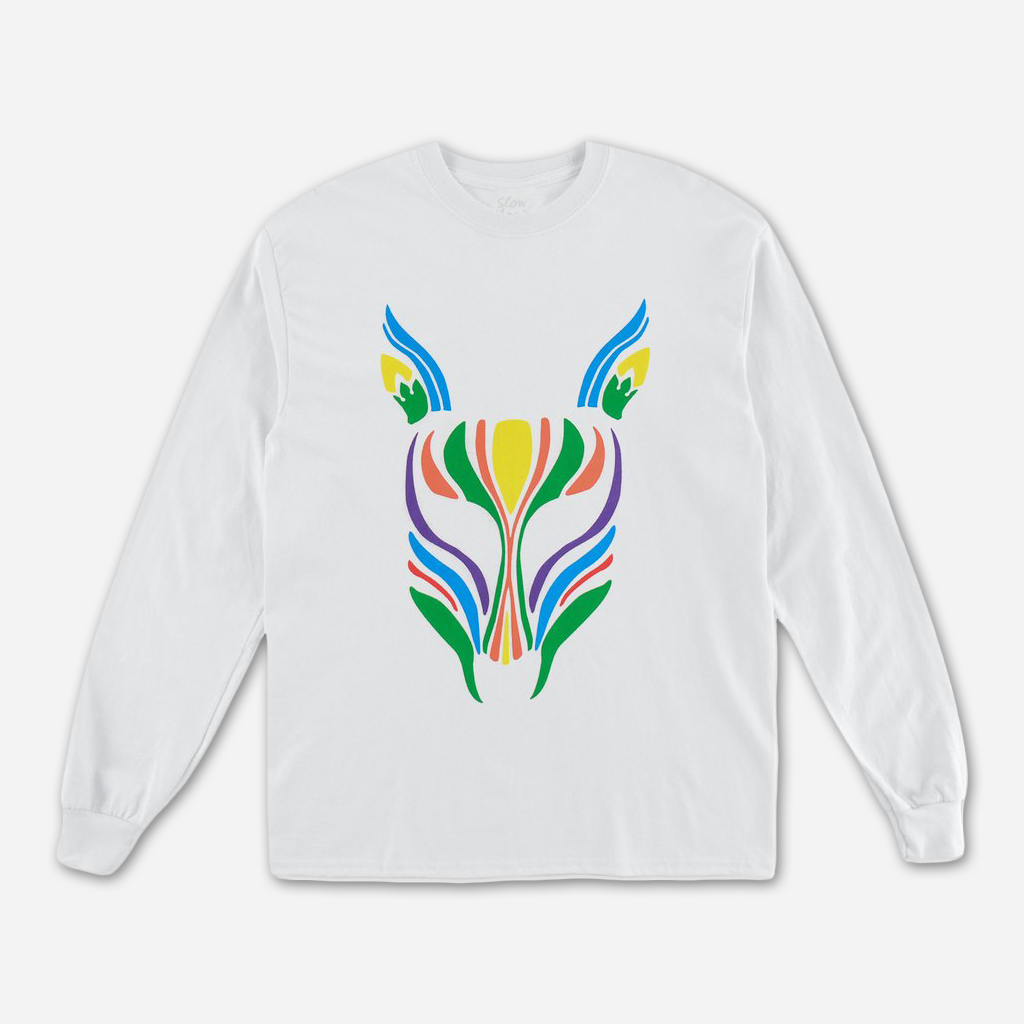 Mask White Long Sleeve T-Shirt