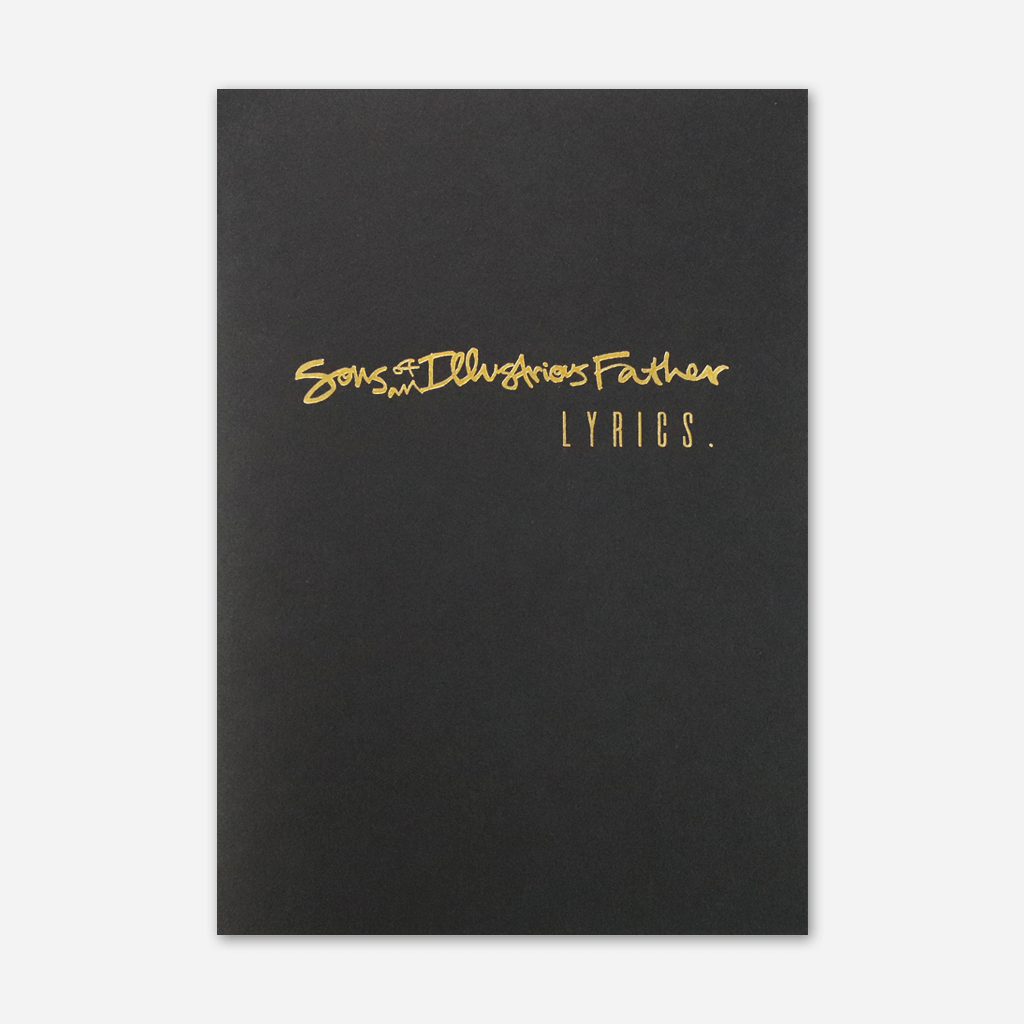 Lyric Book - Sons Of An Illustrious Father - Hello Merch