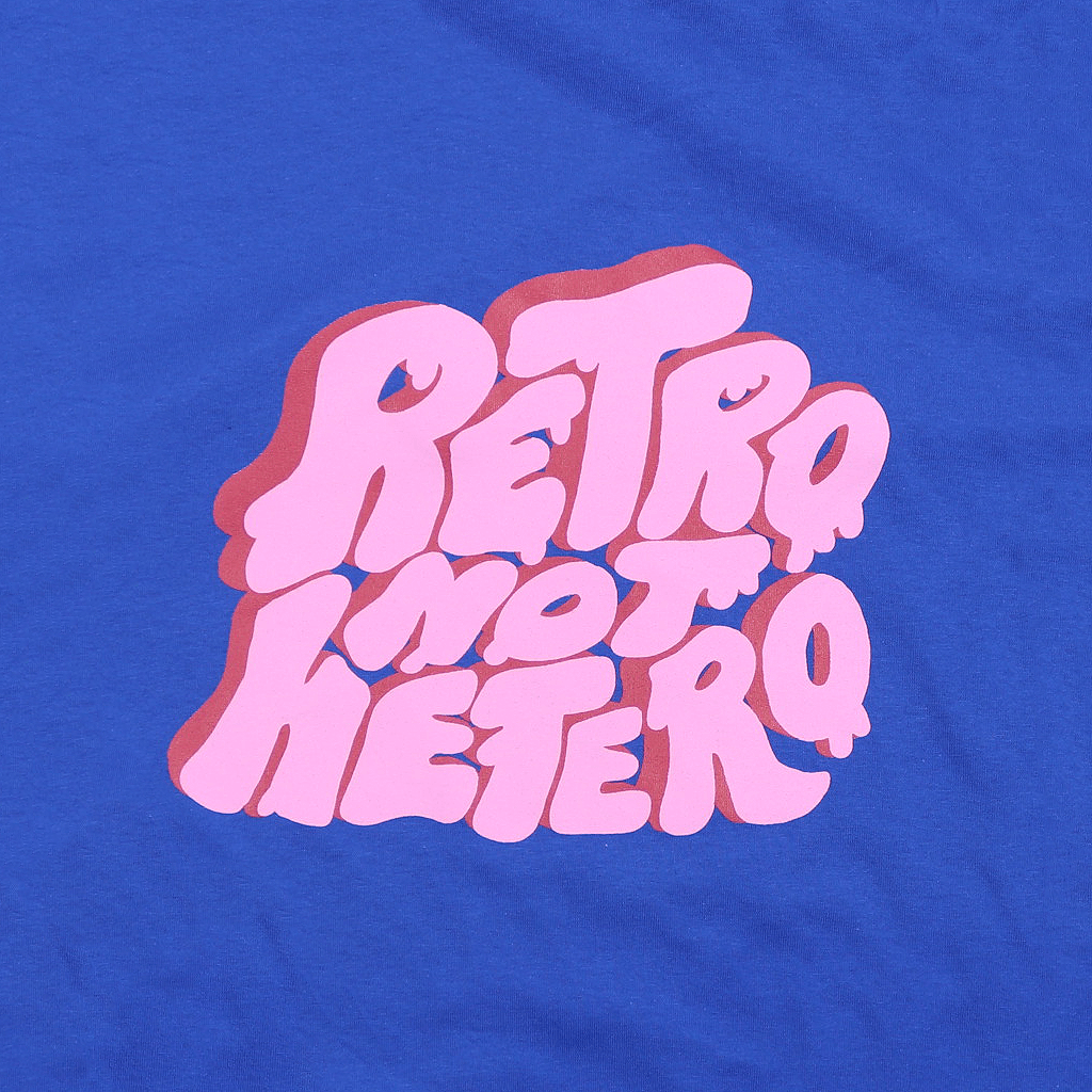 Retro Not Hetero Blue Bell Breeze T-Shirt