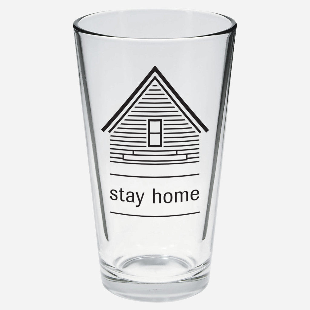 AF Stay Home Pint Glass