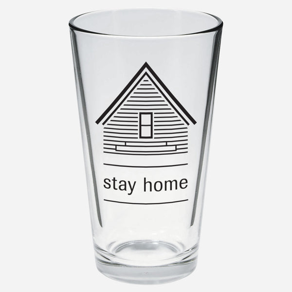 AF Stay Home Pint Glass by American Football for sale on hellomerch.com
