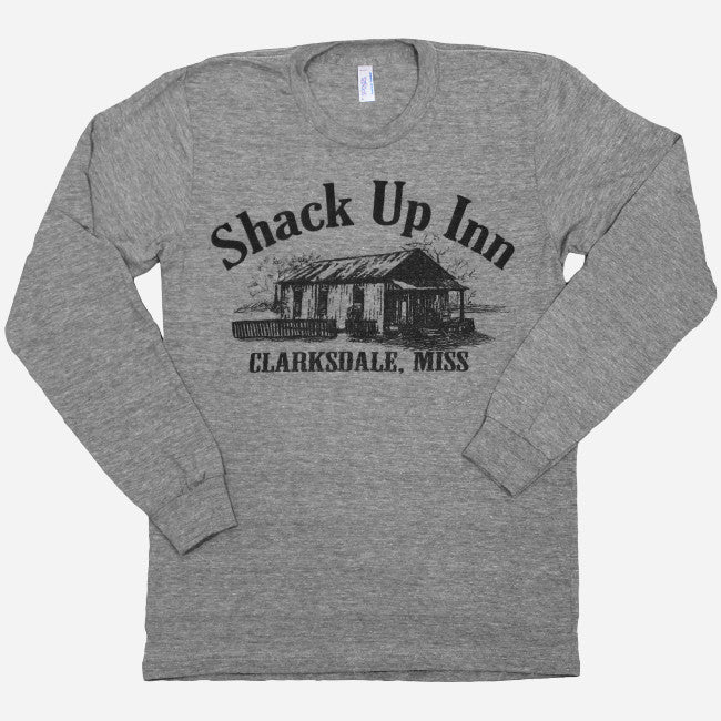 SUI Logo Grey Long Sleeve T-Shirt - Shack Up Inn - Hello Merch