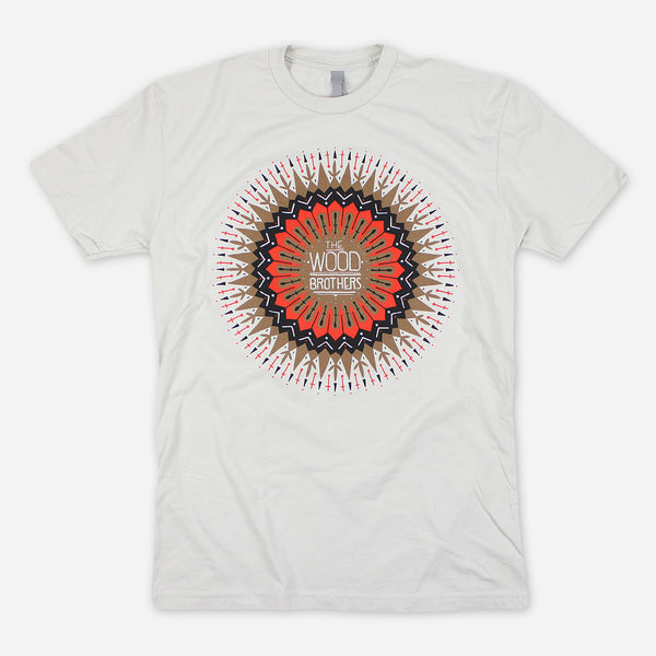 Sun Mandala Sand T-Shirt by The Wood Brothers for sale on hellomerch.com