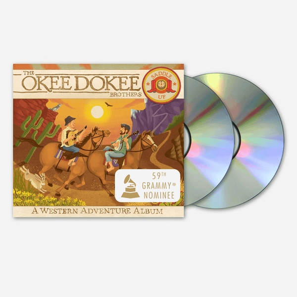 Saddle Up: CD & DVD - A Western Adventure Album by The Okee Dokee Brothers for sale on hellomerch.com