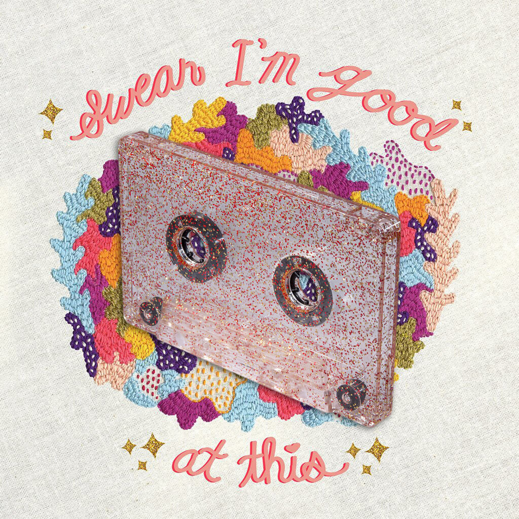 Swear I'm Good At This Glitter Cassette Tape