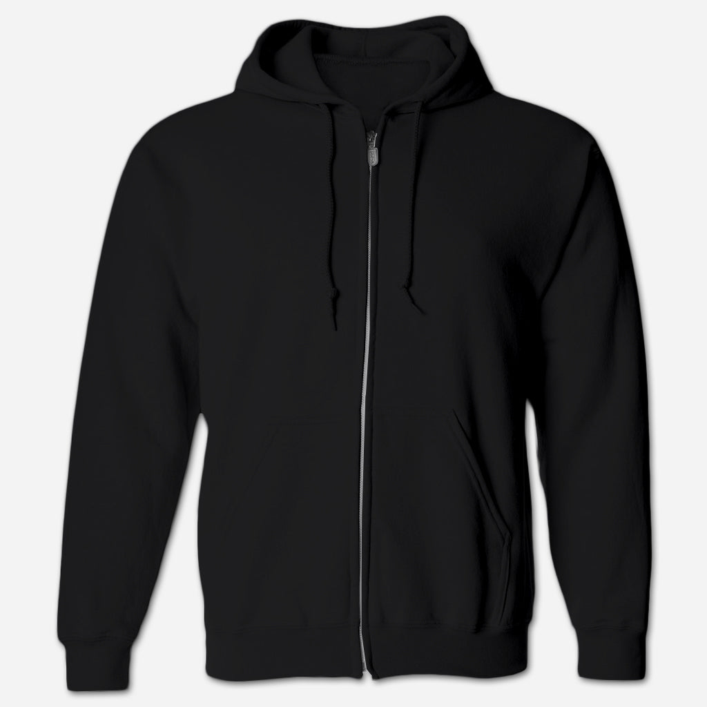 Script Black Zip Hoodie - Low Cut Connie - Hello Merch