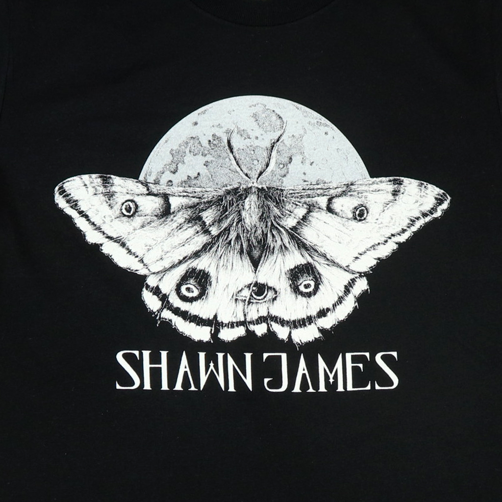 Moth Black T-Shirt