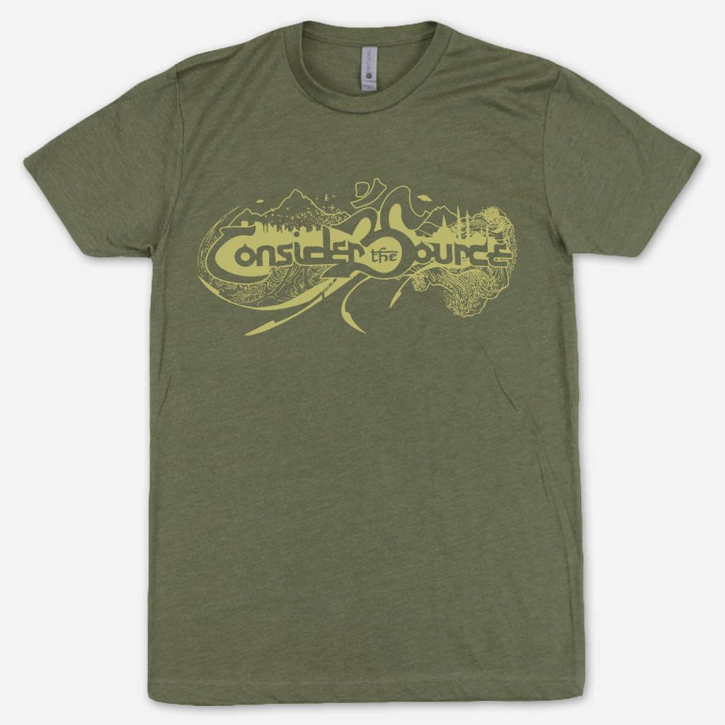 Sourceror's Army Military Green T-Shirt