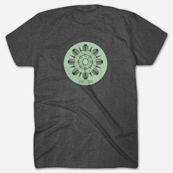 Light Bulbs Heather Graphite T-Shirt by Spafford for sale on hellomerch.com