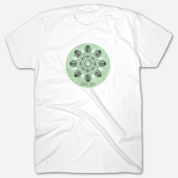 Light Bulbs White T-Shirt by Spafford for sale on hellomerch.com