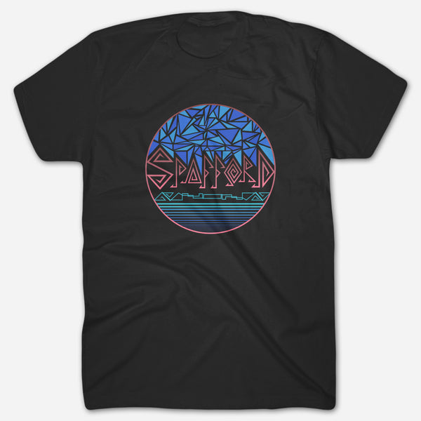 Stained Glass Black T-Shirt by Spafford for sale on hellomerch.com